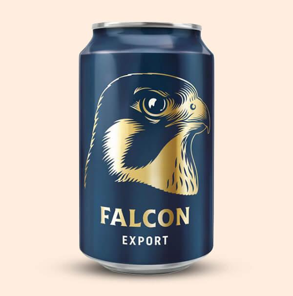 Falcon-export-0,33l-blik-Goedkoop-Zweeds-Bier