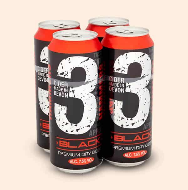 Three-Hammers-Black-Cider-Engelse-cider-0,5L-blik
