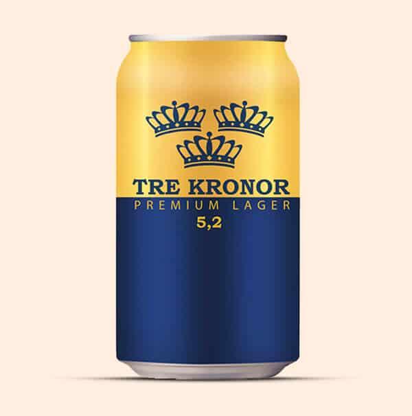 Tre-Kronor-Premium-Lager-Zweeds-Bier-goedkoop-0,33L-blik
